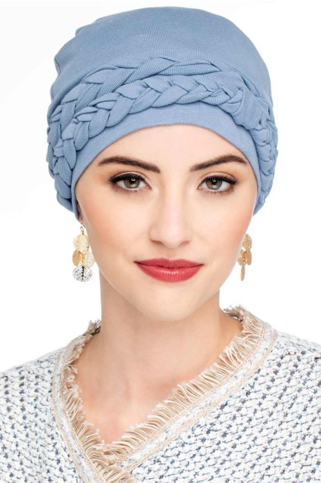 Solid Double Braid Turban Set | All Cotton 2 Piece Turbans for Woman
