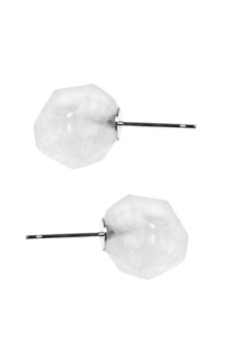 Faceted Quartz Nugget Stud Earrings | Nickel & Lead Free Earrings |