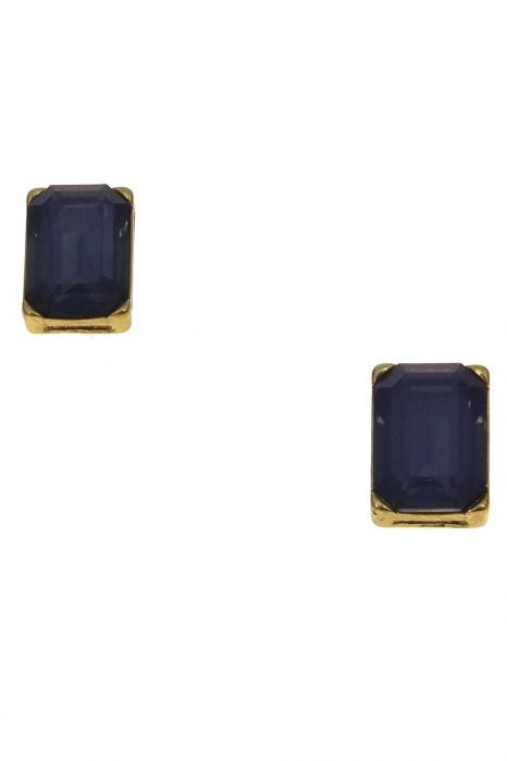 Prismatic Emerald-Cut Stud Earrings | Gold Plated and Hypoallergenic