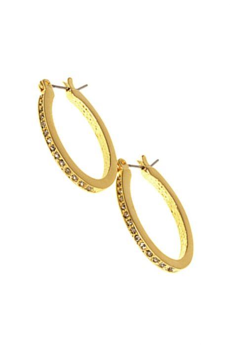 Pave Oval Hoops | Nickel Free Hypoallergenic Earrings |