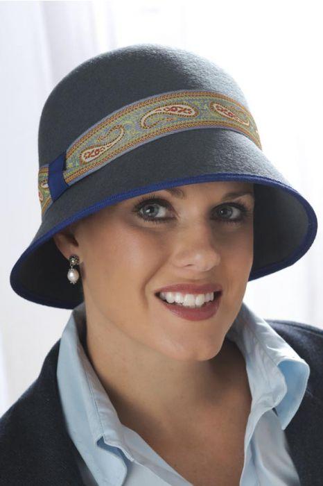 Paisley Ribbon Cloche Hat