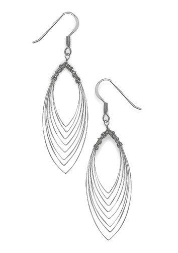 Sterling Silver Teardrop Multi Wire Wrapped Earrings