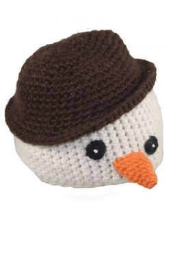 Crocheted Snowman Beanie for Kids