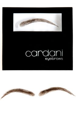 Cardani Human Hair False Eyebrows #15 - Stick On Eyebrow Wig