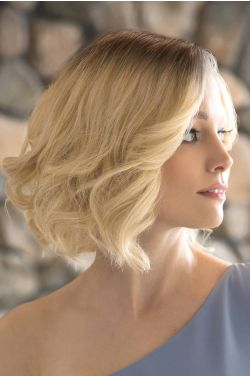 Joelle by Rene of Paris Wigs - Human Hair, Hand Tied, Lace Front, Monofilament Top Wig