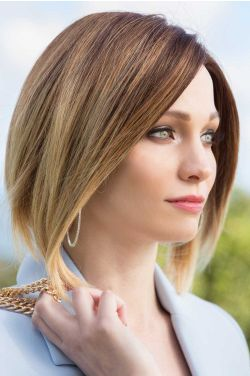 Valery by Rene of Paris Wigs - Human Hair, Hand Tied, Monofilament Top Wig