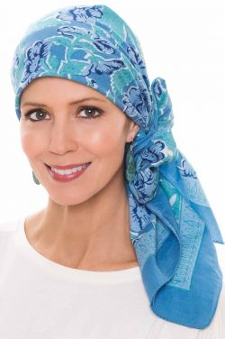 Athens Floral | 100% Cotton Woodblock Hand Stamped Head Scarves