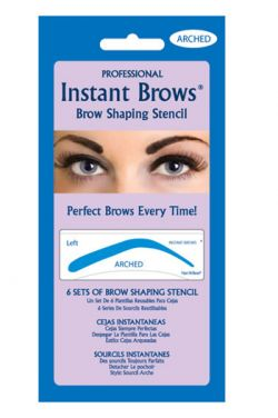 Peel and Stick Eyebrow Stencils- Arched Shape