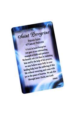 Saint Peregrine - Saint of Cancer Patients Card