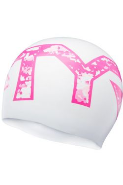 TYR Pink Breast Cancer Silicone Swim Cap