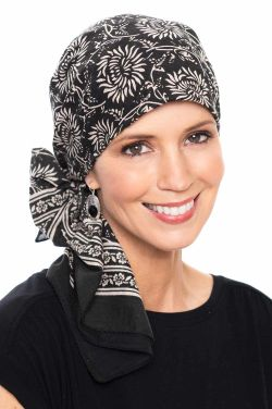 Allison Print | 100% Cotton Woodblock Hand Stamped Head Scarves