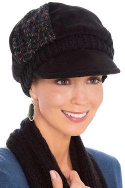 Patchwork Alyssa Newsboy Hat | Warm Winter Hats for Women