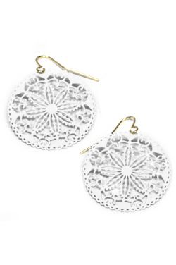 Antique Lace Round Filigree Earrings | Nickel & Lead Free Earrings