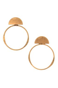 Hypoallergenic Hoop Earrings | Aztec Flat Hoop Earrings