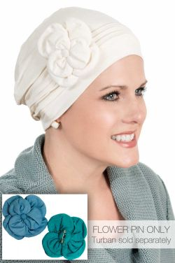 Cardani® Hand Made Flower Pin | Bamboo Viscose Hat Accessory