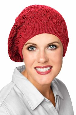 Barely There Cotton Beret in Red