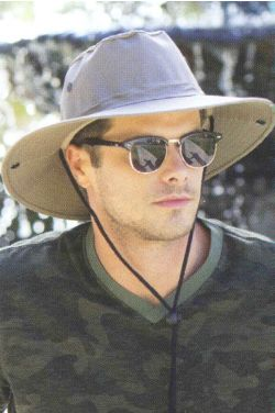 Mens Side Snap Safari Hat