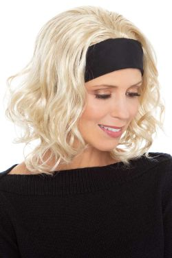 Brandi Headband Wig | Cardani Beach Waves Curly Hair Headband