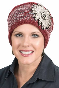 Beaded Flower Cuff Headband | Ear Warmer | Accessory for Hats and Turbans