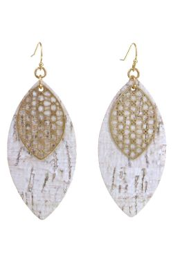 Birch & Gold Chic Leaf Earrings