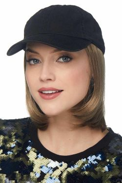 Baseball Cap with Hair | Cardani Classic Bob Baseball Hat with Hair