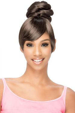 BPB-Sheena Twisted Bun with Fringed Bangs by Vivica Fox Wigs