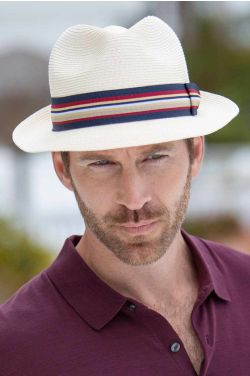 Braided Ivory Fedora | Classic Hats for Men