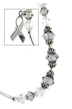 Brain Cancer Awareness Bracelet in Sterling Silver