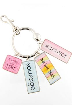 Inspirational Message Charms - Add to Keychain, Bracelet or Necklace