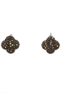 Bridgette Clover Earrings | Hypoallergenic Stud Post Earrings
