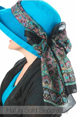 Rectangular Accessory Scarf - Solid Silk Prints