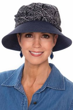 Brisa Chiffon Printed Bucket Hat | Summer Hats for Women