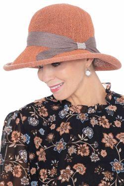 Petite Cabell Rhinestone Rolled Brim Hat   Stylish Summer Hats for Women
