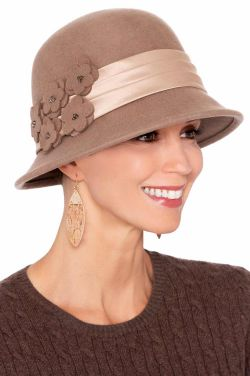 Calista Satin Ribbon Cloche | Winter Cloche Hats for Women