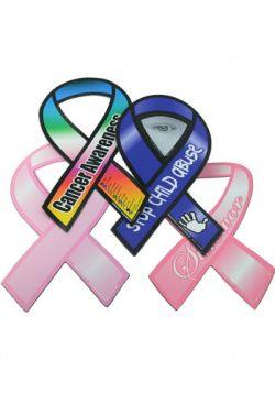 Cancer Awareness Ribbon Car Magnets