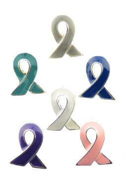 Cancer Awareness Tack Pin - Choose Ribbon Color