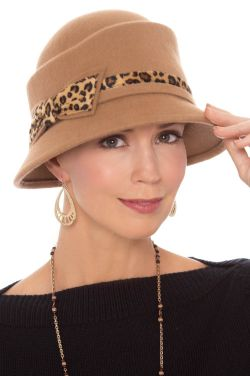 Cheetah Bow Cloche Hat | Winter Hats for Women