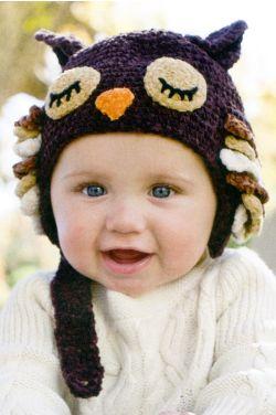Crochet Sleepy Owl Hat |