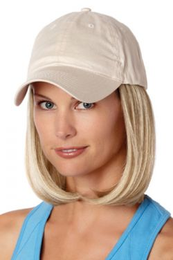 Baseball Cap with Hair: 8228 Classic Hat Beige