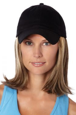 Baseball Cap with Hair: 8226 Classic Hat Black