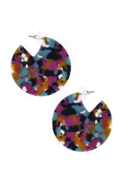 Confetti Lucite Hoops | Hypoallergenic Statement Earrings