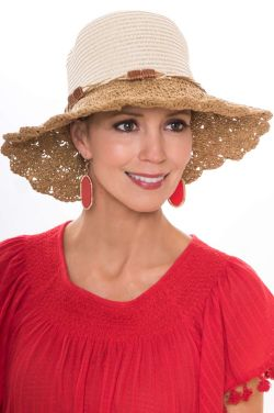 Petite Corinne Crochet Sun Hat for Women