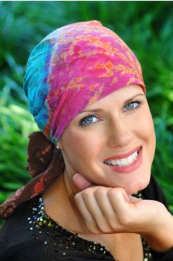CLOSEOUT COLORS - Cotton Batik and Tie Dye Head Scarf