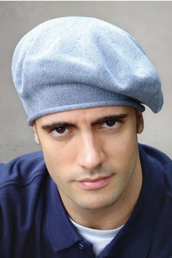 Mens 100% Cotton Knitted Beret | Cotton Beret for Guys