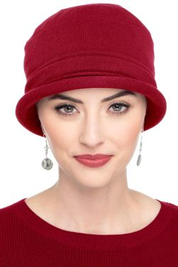 Cotton Roller Hat in Red | All Cotton Hats for Women