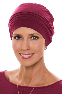 Couture Cap in Bordeaux in Luxury Viscose from Bamboo by Cardani® Luxury Bamboo - Bordeaux