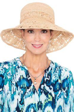 Louelle Crocheted Sun Hat   Raffia Sun Hats for Women