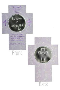 Believe in Miracles Cross Pocket Token |