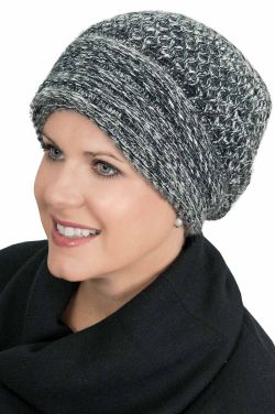 Angora Cuff Beanie Hat - Winter Beanies for Women