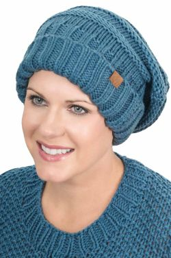 Cuffed Slouchy Hat | Knitted Fall & Winter Slouchy Cap for Women